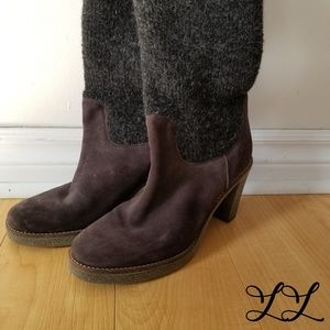SAX Don Diego Boots Pull On Sock Wool Suede Gray